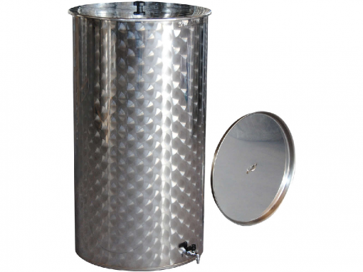 Serbatoio inox vino lt.300 galleggiante ad olio