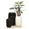 Vaso Drops c/riserva acqua cm.31x46 Black