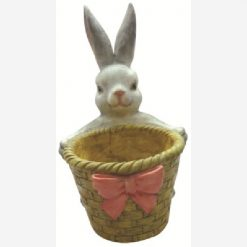 Coniglio con vaso