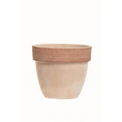 Vaso palladio graffiato in terracotta cm.14
