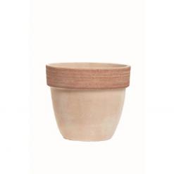 Vaso palladio graffiato in terracotta cm.14