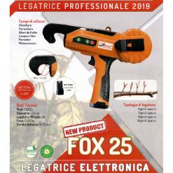 Legatrice professionale a batteria Li-Ion FOX 25