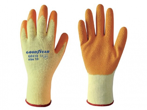 Guanto goodyear cotone lattice
