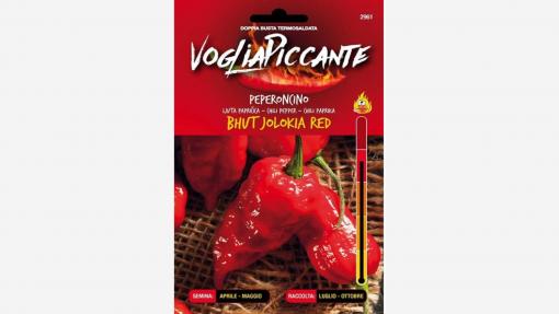 Sementi in bustina di peperoncino Bhut Jolokia Red