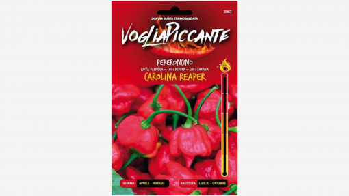 Sementi in bustina di peperoncino Carolina Reaper