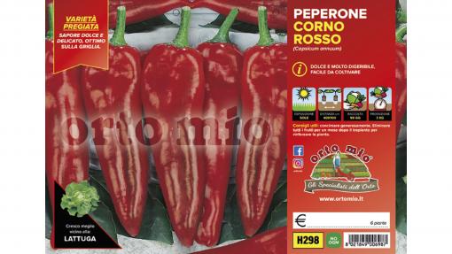 Piantine in pack Peperone corno di toro varietà Alceste F1