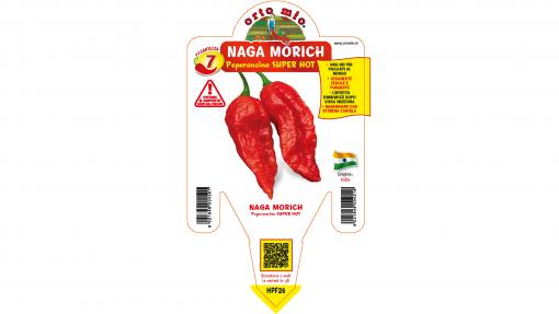 Peperoncino Naga Morich rosso - vaso 10