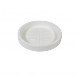 Sottovaso tondo Naturalia cm.40 bianco ottico