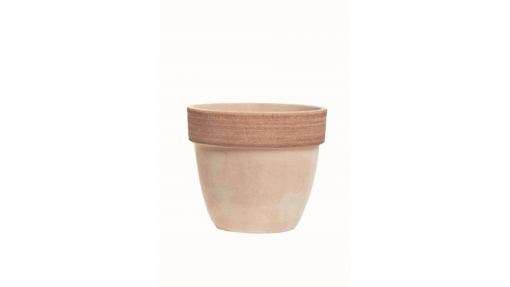 Vaso palladio graffiato in terracotta cm.35