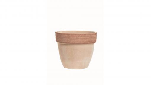 Vaso palladio graffiato in terracotta cm.45