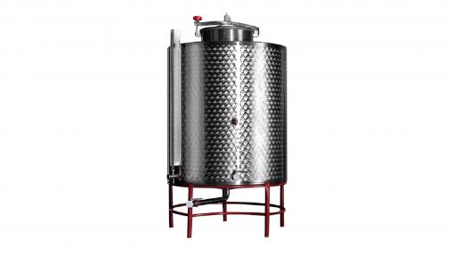 Contenitore per vino in acciaio a fondo conico lt.300 - Stoccaggio