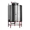 Contenitore per vino in acciaio a fondo conico lt.500 - Stoccaggio