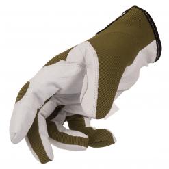 Guanti da lavoro in pelle tg.11/XL colore Oliva