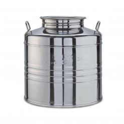 Fustino in acciaio Inox lt.30 MINOX basso c/predisposizione rubinetto
