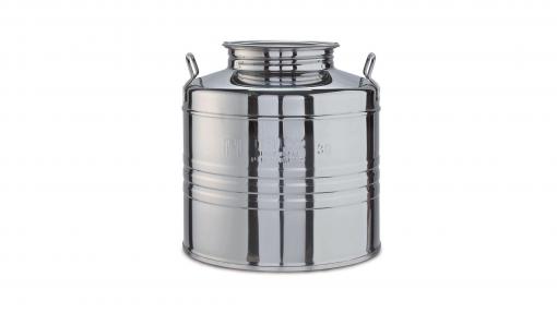 Fustino in acciaio Inox lt.25 MINOX c/predisposizione rubinetto