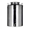 Fustino in acciaio Inox lt.50 MINOX c/predisposizione rubinetto
