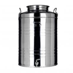 Fustino in acciaio Inox lt.50 MINOX s/predisposizione rubinetto