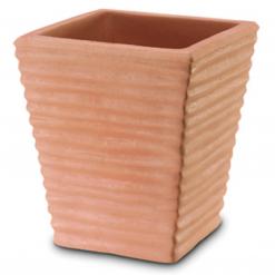 Vaso quadrato rigato cm.30 impruneta