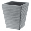 Vaso quadrato rigato cm.40 antracide