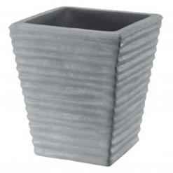 Vaso quadrato rigato cm.30 antracide