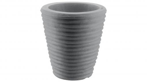 Vaso tondo rigato cm.55 antracide
