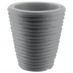 Vaso tondo rigato cm.40 antracide