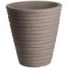 Vaso tondo rigato cm.30 antracide