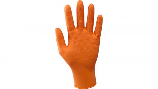 Guanti nitrile Grease Monkey arancio pz.50 Neri
