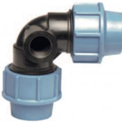 """Gomito 90° c/derivazione femmina per irrigatore pop-up 32x3/4""""x32 compressione"""